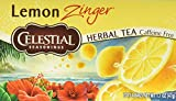 Celestial Seasonings Lemon Zinger Herbal Tea, 20 Count (Pack of 6)