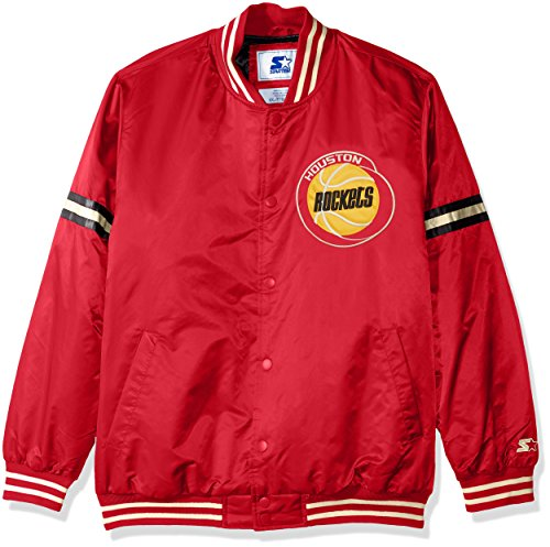 STARTER NBA Houston Rockets Men's Legecy Retro Satin Jacket, Large, Red ()