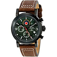 AVI-8 Men's AV-4041-04 Hawker Hurricane Stainless Steel Watch with Brown Leather Band
