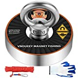 Fishing Magnet 700LBS Pulling Force Rare Earth Neodymium Magnet with Eyebolt Diameter 2.95 inch (75mm) Superior Magnetics for Underwater Salvage, Retrieval and Recovery