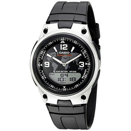 Casio Men's AW-80-1A2VCF Databank Analog/Digital Display Quartz Black Watch Databank Sports Watch