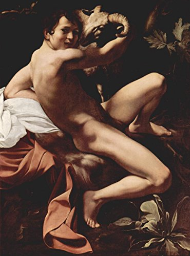 Quality Prints - Laminated 24x32 Vibrant Durable Photo Poster - Michelangelo Merisi da Caravaggio, Saint John The Baptist Youth with a Ram c. -
