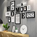 Solid Wood Photo Wall, Modern Simple Art Creative Living Room Restaurant Club Photo Frame White Hanging Wall Photo Frame Combination ( Color : A ) Review