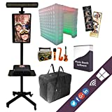 Complete Portable Photo Booth Pro Camera, Light, Affordable Printer, Tent, Props