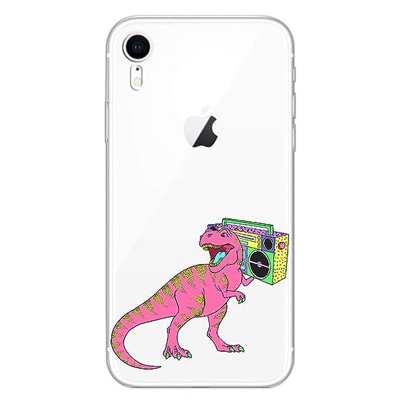iphone xr clear case dinosaur