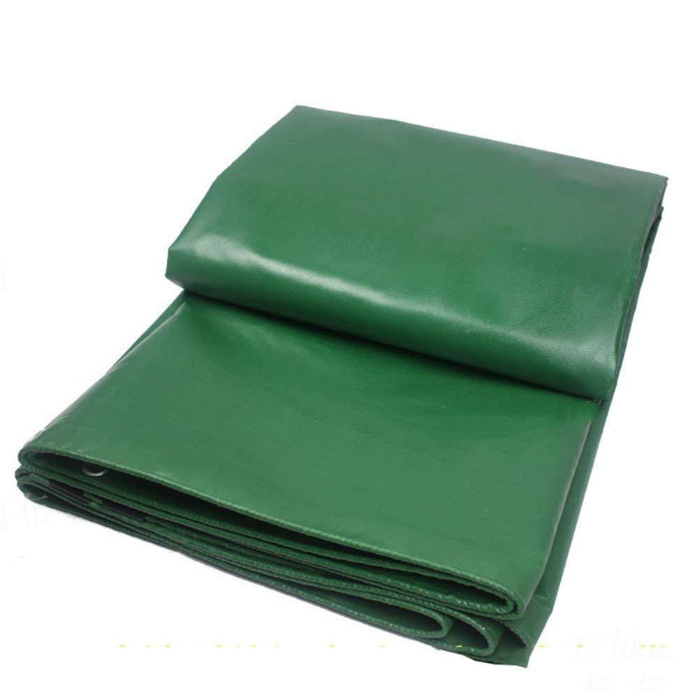 防水グリーンキャンバス防水日焼け止め防塵、耐引裂性ポリマー、マルチサイズオプション、厚さ0.4mm(2.85x3.85m) (色 : Green, サイズ さいず : 3.82x7.85m) 3.82x7.85m Green B07K48SXTW