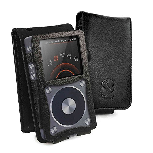 Tuff Luv Faux Leather Case Cover for FiiO X5 2nd Gen - MP3 (Inc. Screen Protector) - Black