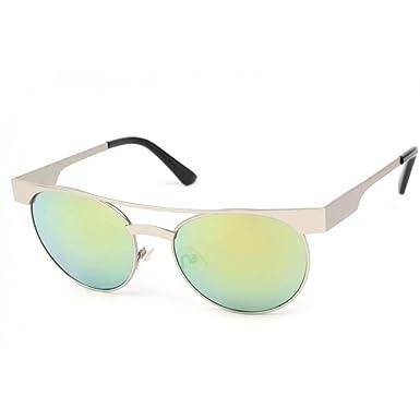 07dc63f8c704fa Eye Wear Lunettes Soleil Friends monture Argent verres reflets verts - Mixte   Amazon.fr  Vêtements et accessoires