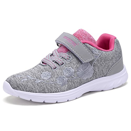 School Girl Shoes (Dream Seek Geers Girls Fashion Sneaker Grey 12)