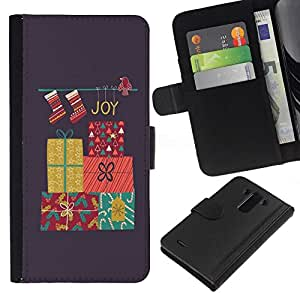 All Phone Most Case / Oferta Especial Cáscara Funda de cuero Monedero Cubierta de proteccion Caso / Wallet Case for LG G3 // Christmas Merry Holidays Winter Gift