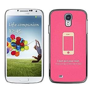 MOBMART Carcasa Funda Case Cover Armor Shell PARA Samsung Galaxy S4 - Lies Phones Tell