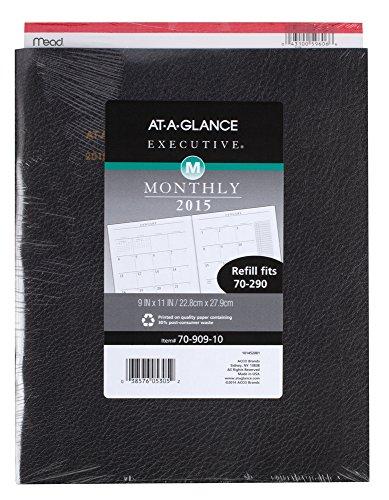 7090910 executive monthly padfolio refill