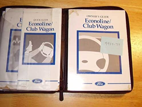 1997 ford econoline van owners manual ford amazon com books rh amazon com 1991 Ford Econoline 1994 Ford Econoline