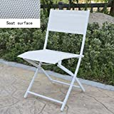 World Market Wooden Folding Chairs YCSD Folding Chair Portable Balcony Lounge Backrest Chair Office Lunch Break Deck Chair (Color : White)