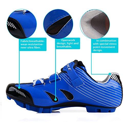 Smartodoors SIKEBIKE Damen und Herren W All-Road und MTB II Radschuhe SD-001 Blau für MTB