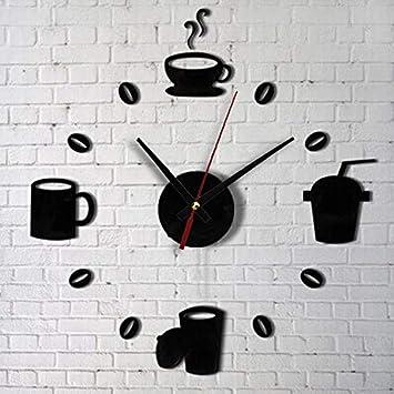 Decoracion de muebles, BaZhaHei, Moda acrílico DIY autoadhesivo pared interior decoración creativa reloj del Vinilos decorativos para el hogar de decoración ...