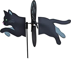 "19"" BLACK CAT Petite Garden Stake Wind Spinner by Premier Kites & Designs"
