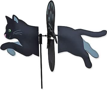"19"" BLACK CAT Petite Garden Stake Wind Spinner by Premier Kites & Designs"