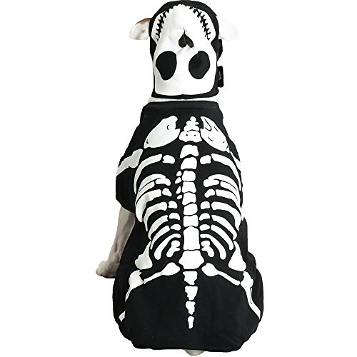 Casual Canine Cotton Glow Bones Dog Costume, Medium, 16-Inch -