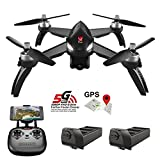 Teeggi MJX Bugs 5W B5W GPS FPV RC Drone with Camera Live Video GPS Smart Return Quadcopter with 5G 1080P HD WiFi Camera and Follow Me Altitude Hold Headless Mode Track Flight Point of Interest Flying