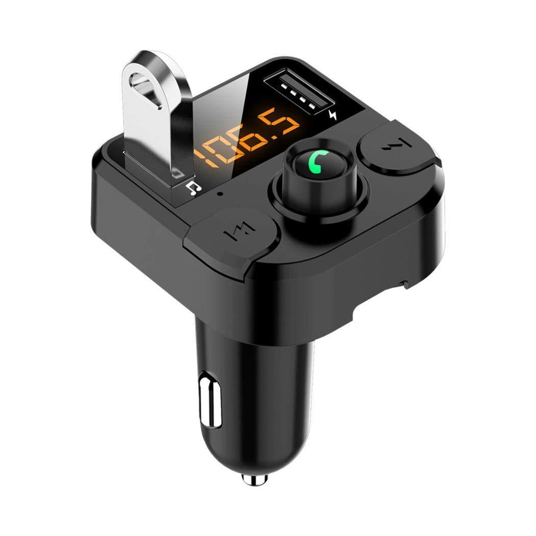 Zimrio Trasmettitore FM per Lettore MP3 Vivavoce per Caricabatterie USB per Auto 3.1A Senza Fili Bluetooth Custodie con Batteria Integrata