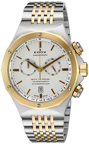 Edox Men's 10108 357J AID Delfin Analog Display Swiss Quartz Two Tone Watch