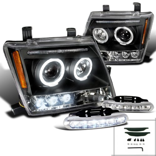 (Spec-D Tuning L12-2LHPXTE05JMTM Fog Headlight (Black Halo Projector Head LED Lamp))