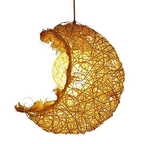 YEXIN Lustre en rougein lune restaurant pastoral lampe personnalité créative café-restaurant thé maison décoration lampe chambre étude salon porche plafonnier