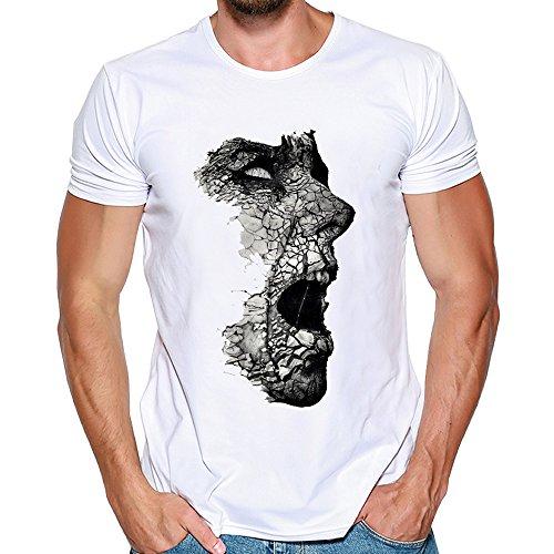 Imprimé T blanc Sleeve Personnalité D'été Tee Short Courte Manche Casual Homme Tops Ciellte G Mince shirt Blouse Shirts Fit Lion qwvHX1xI