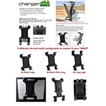 "Chargercity 18.5"" Aluminum Gooseneck Car Seat Floor Bolt Tablet Mount Mount for all 7"" 8"" 9"" 10"" 11 Tablet with/without protective case for Apple iPad 2 3 HP Touch Pad Blackbook Playbook 2s Motorola Xoom Vizio 8 Samsung Galaxy Tab 7 7.7 8 10 Tablets"