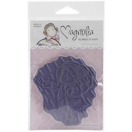 Magnolia Fall Cling Stamp, 3.75 by 6.5-Inch, Tilda with Raincoat