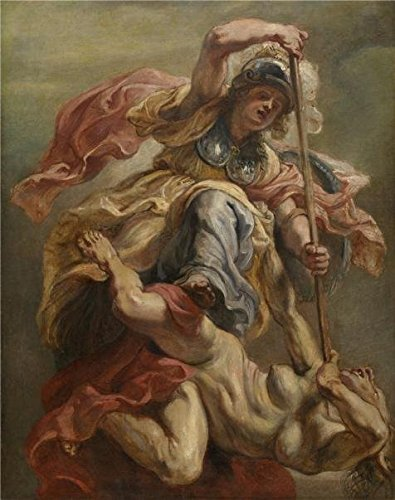 'Peter Paul Rubens,Minerva Slaying Discord,1577-1640' Oil Painting, 10x13 Inch / 25x32 Cm ,printed On Perfect Effect Canvas ,this Replica Art DecorativeCanvas Prints Is Perfectly Suitalbe For Dining Room Gallery Art And Home Decor And Gifts