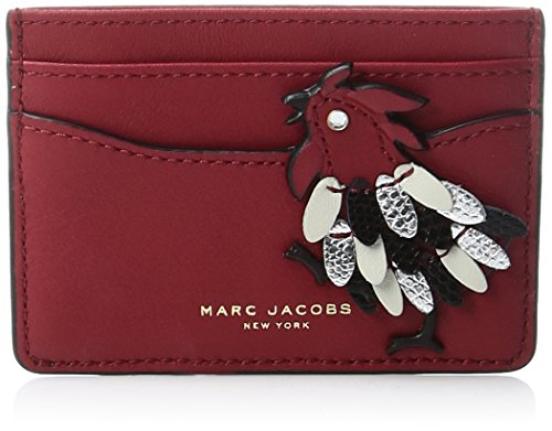 Rooster Card Case Credit Card Holder, SCARLET, One Size by Marc Jacobs
