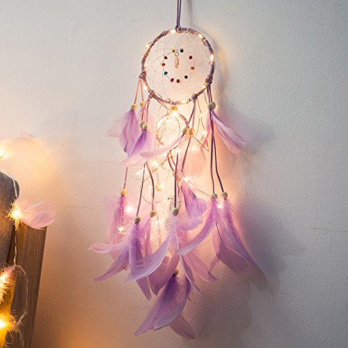 coersd Indoor String Lights Dreamcatcher 2 Meter 20LED Lighting Girl Room Bell Bedroom Romantic Decoration (A)