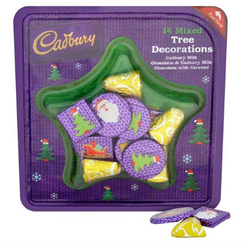 Cadbury 14 Chocolate Tree Decorations 144G (Wholesale Grocery Item For Christmas) (Case Of 2)