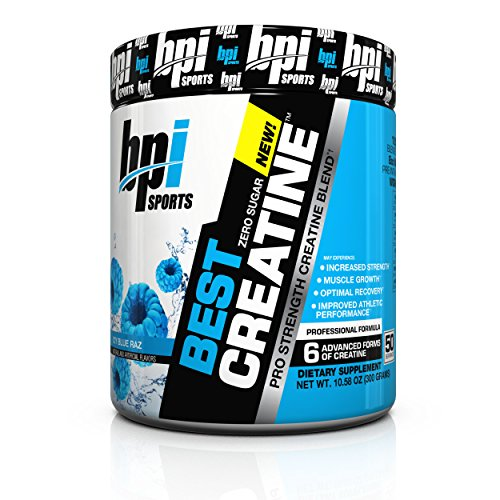 BPI Sports Best Creatine, Icy Blue Raz,  Net Wt. 10.58 oz