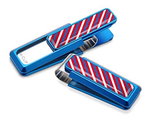 Team Red Clips White Rep Stripes Money Tie Clip Blue M nFv744