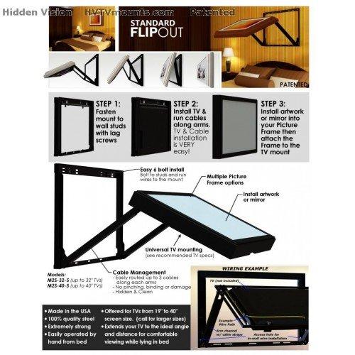 Amazon.com: HIDE YOUR TV - Standard Flip-Out TV mount for a 32\