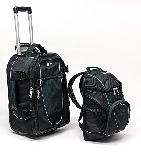 Portal Navigator Hybrid Wheeled Carry On Backpack With