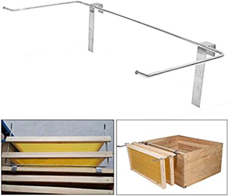 47.5cm Stainless Steel Beekeeping Frame Holder Bee Hive Perch Side Mount Tools
