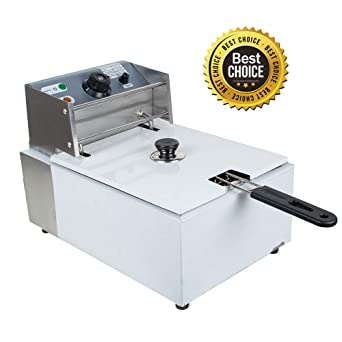 Vinmax Electric Countertop Deep Fryer Commercial Restaurant Tabletop Fryer 1500w 8l Shipping From Us
