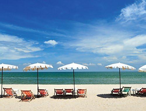 Jplo9Jp London MACR2416 18 pulg De grosor alta definición resolución acrílico brillante Calm Cabana Beach Solitude Oasis 3 pies de ancho por 2 pies de alto