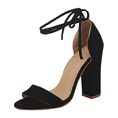 48c5a2e77e Lolittas High Block Heel Sandals for Womens Leather Black Size 2-10,Summer  Wedding