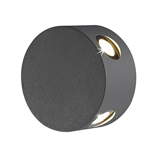 - Eurofase 28296-027 Pass LED Outdoor Wall Mount, Graphite Grey