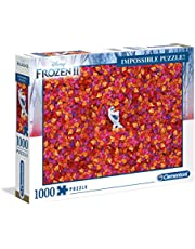 Clementoni Volwassen Puzzel, Disney Frozen 2-1000 Stukjes - Impossible Puzzle, 10+ jaar, 39526