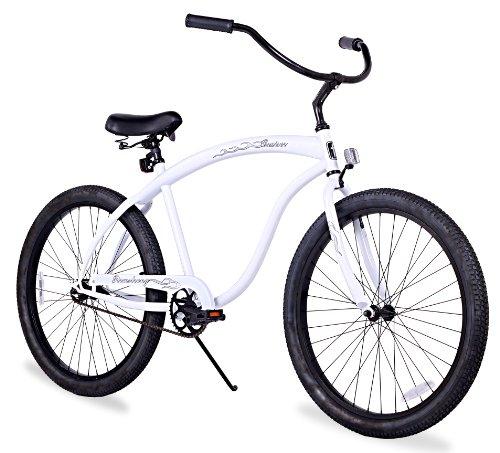 (Firmstrong Bruiser Man Single Speed Beach Cruiser Bicycle, 26-Inch, White)