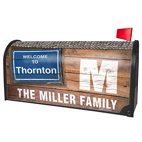 NEONBLOND Custom Mailbox Cover Sign Welcome to Thornton ()
