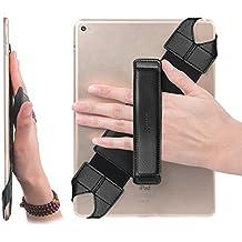 "Universal Tablet Hand Strap Holder, Joylink 360 Degrees Swivel Leather Handle Grip with Elastic Belt, Secure & Portable for All 10.1"" Tablets (Samsung Asus Acer Google Lenovo Kindle iPad), Black"