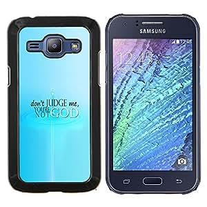 Qstar Arte & diseño plástico duro Fundas Cover Cubre Hard Case Cover para Samsung Galaxy J1 J100 (No juzgue)