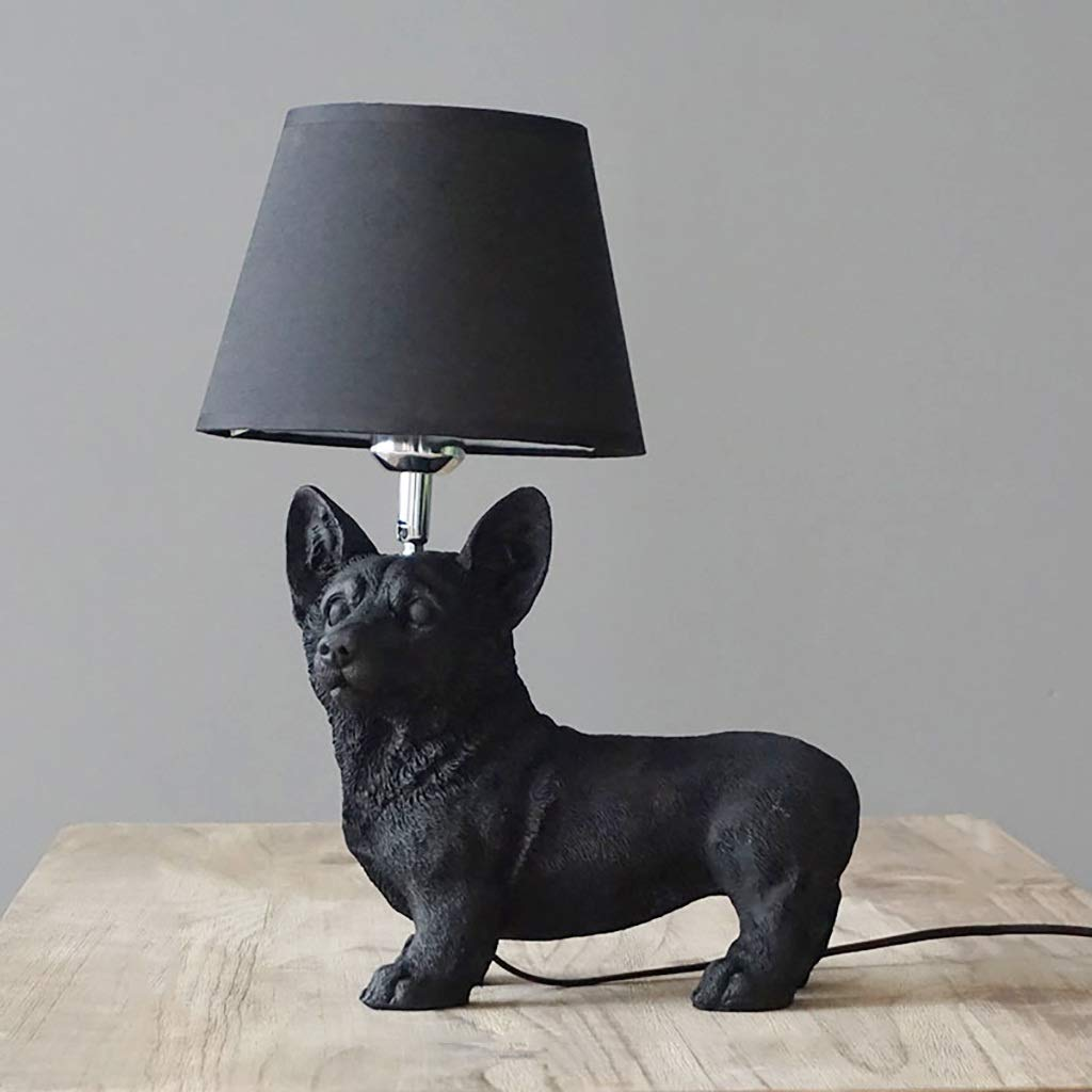 Puppy Table Lamp Living Room Study Bedroom Bedside Table Children's Room Creative Decoration Small Table Lamp Desktop Light